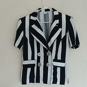 1990'S THE LIMITED vintage black white blazer